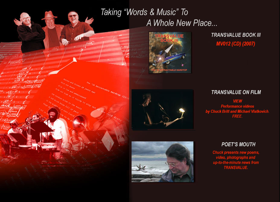 "TRANSVALUE Taking ""Words and Music"" To A Whole New Place... Transvalue - Book III The new CD - available now"